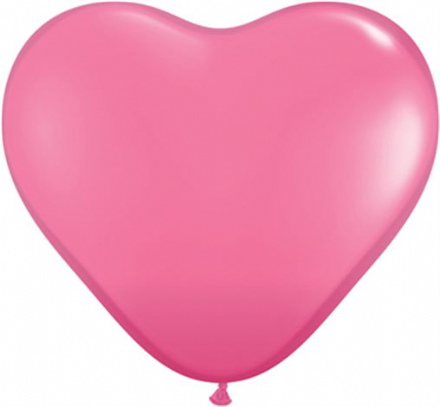 3' Fashion Rose Heart Latex Balloons x 2